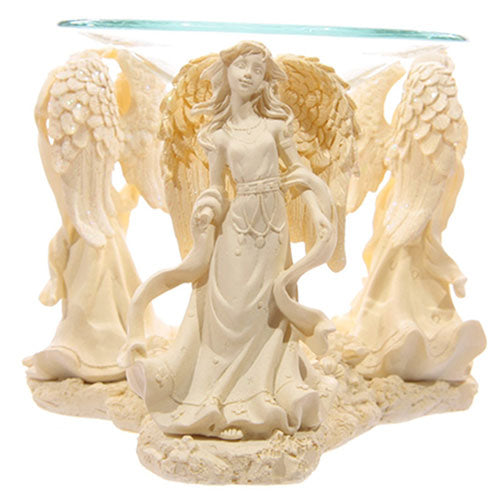 Cream Resin Angel Oil Burner