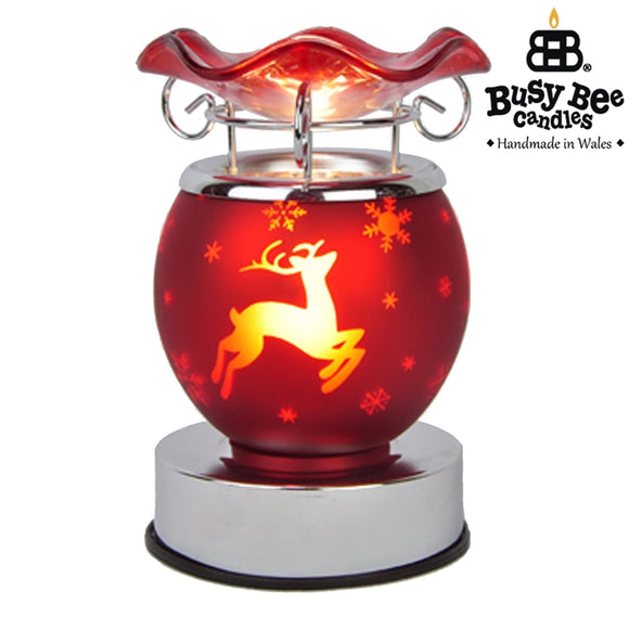 Christmas Electric Melt Burner 15cm - Red Reindeer