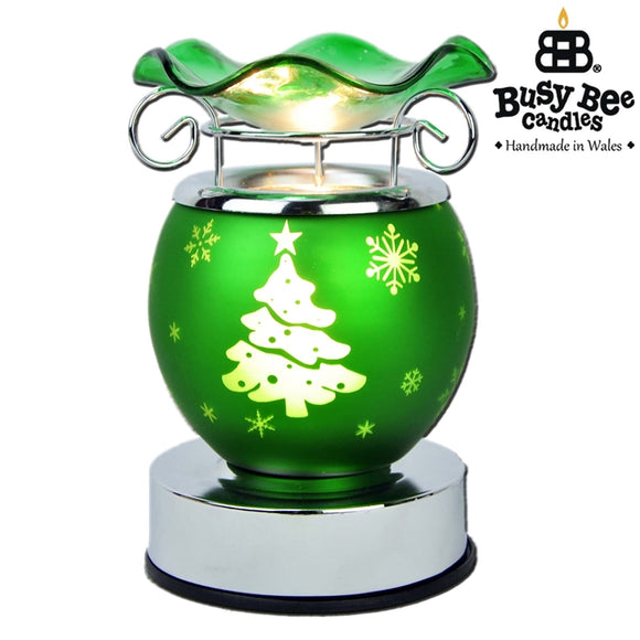 Christmas Electric Melt Burner 15cm - Green Tree