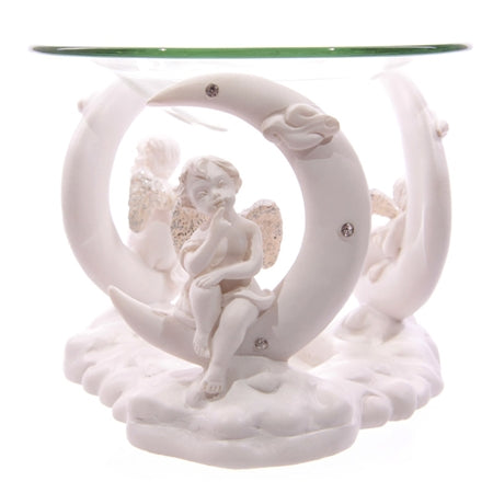 Cherub & Moon Wax Melter / Oil Burner 12cm