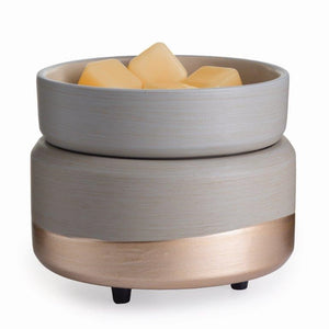 DELAYED UNTIL NOVEMBER Ceramic Brushed Grey & Rosegold Electric Wax Melter