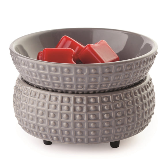 DUE NOVEMBER Ceramic Grey Electric Wax Melter - Dimpled