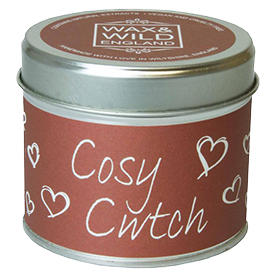Sentiments Candle in Tin - Cosy Cwtch