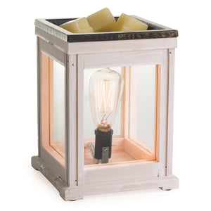 White Lantern Style Electric Wax Melter / Aroma Lamp