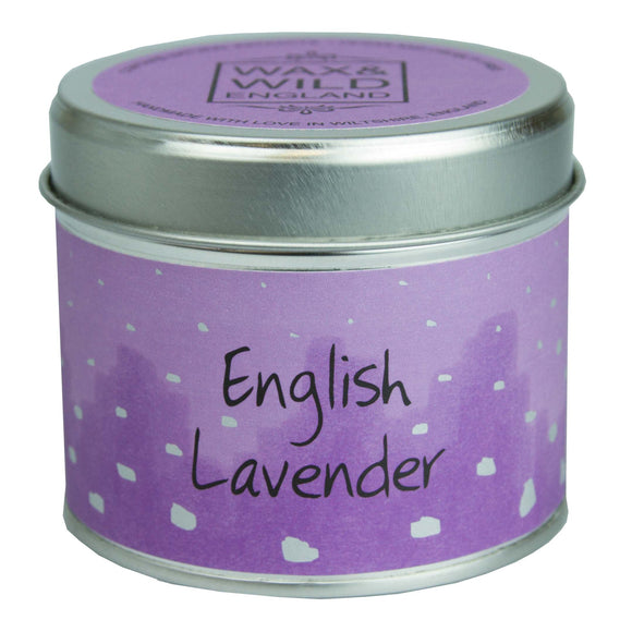 Wax & Wild Candle in Tin - English Lavender