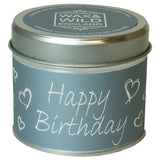 Sentiments Candle in Tin - Happy Birthday