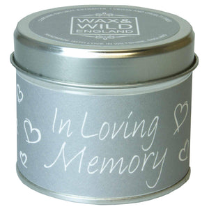 Sentiments Candle in Tin - In Loving Memory