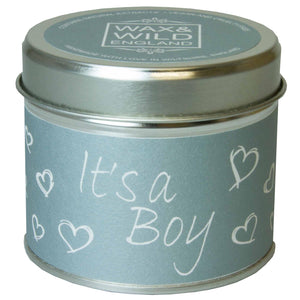 Sentiments Candle in Tin - It's a Boy