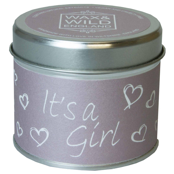 Sentiments Candle in Tin - It's a Girl