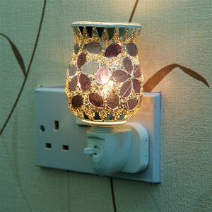 10W* Plug-In Glass Mosaic Oil Warmer - Purple Tulip