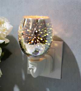 DUE JUNE Plug-In 3D Glass Oil Warmer - Firework Effect