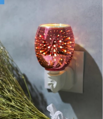 DUE JUNE Plug-In 3D Glass Oil Warmer - Pink Firework