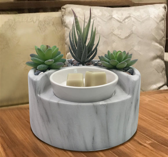 RESTOCK DATE UNKNOWN Succulent Garden Electric Wax Melter - Marble