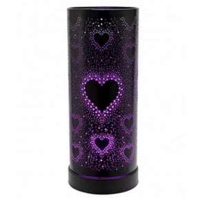 Colour Changing LED Aroma Lamp - Black Hearts