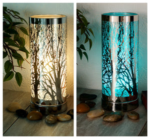DUE MID DECEMBER Colour Changing LED Aroma Lamp - Silver Tree