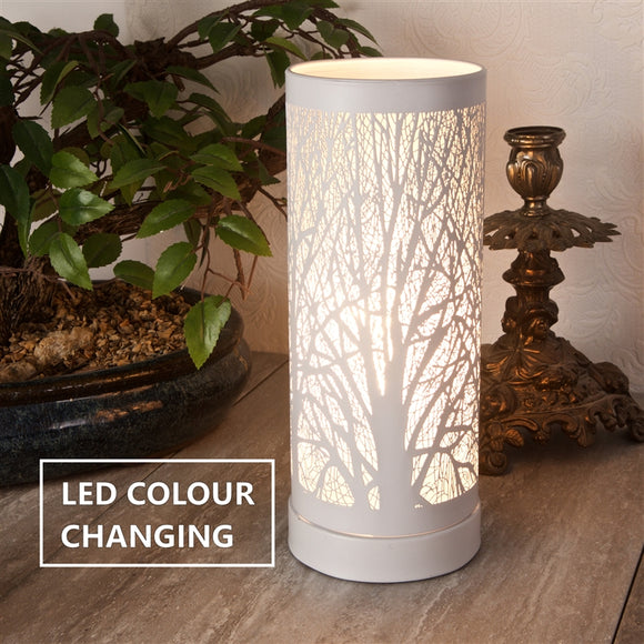 Colour Changing LED Aroma Lamp - White Tree