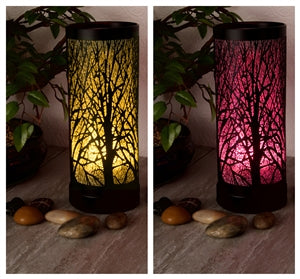 Woodland LED Colour Changing Aroma Lamp - Black