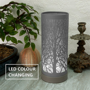 DUE NOVEMBER Colour Changing LED Aroma Lamp - Grey Tree