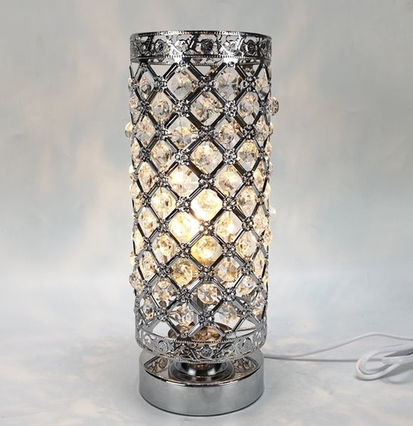 DUE MAY Touch Sensitive Jewelled Silver Aroma Lamp