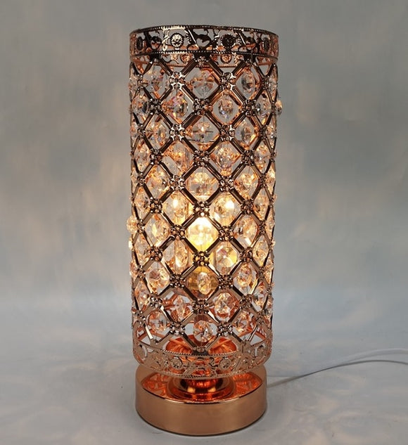 DUE MAY Touch Sensitive Jewelled Rosegold Aroma Lamp