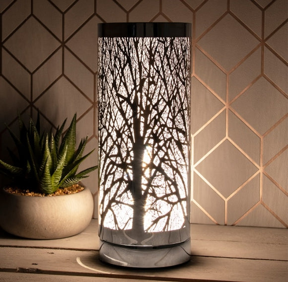 DISPATCH AFTER 7th DECEMBER - LP44651 White And Silver Touch Sensitive Aroma Lamp 26cm