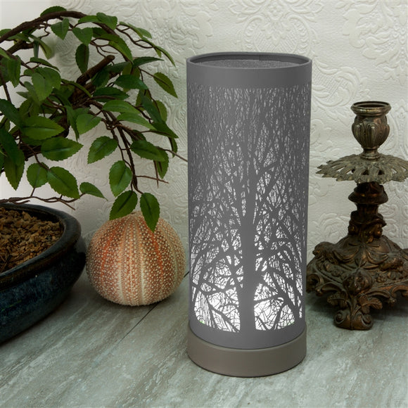 DUE SEPTEMBER Grey And White Touch Sensitive Aroma Lamp 26cm