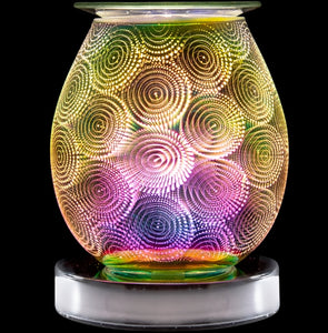 Touch Sensitive Round Aroma Lamp - Circles