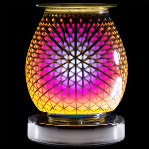 DUE END SEPTEMBER Touch Sensitive Round Aroma Lamp - Triangles
