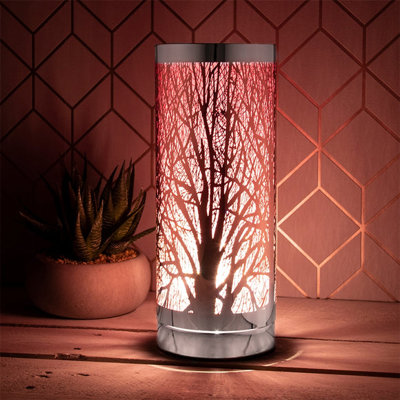 DUE APRIL Pink And Silver Touch Sensitive Aroma Lamp 26cm