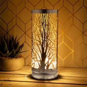 Amber And Silver Touch Sensitive Aroma Lamp 26cm