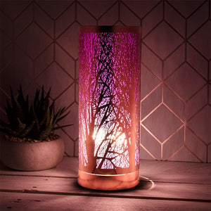 DUE OCTOBER Lilac And Rosegold Touch Sensitive Aroma Lamp 26cm