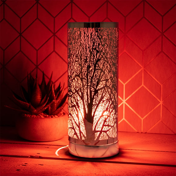 DUE APRIL Red And Rosegold Touch Sensitive Aroma Lamp 26cm