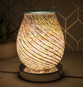 RETURNING NEXT YEAR Glass Aroma Lamp with Touch Sensitive Base - Swirl
