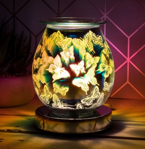 DUE END NOVEMBER Touch Sensitive Round Aroma Lamp - Butterflies