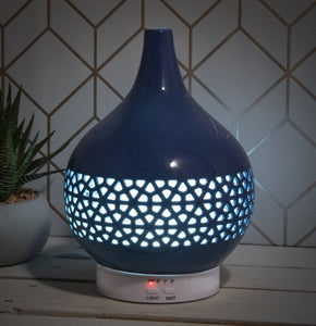 Colour Changing Ceramic Aromatherapy Humidifier - Blue 20cm