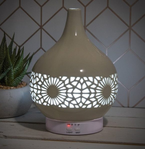 Colour Changing Ceramic Aromatherapy Humidifier - Grey