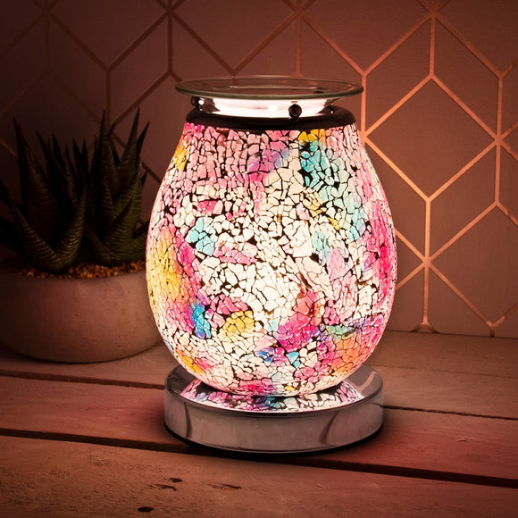 Touch Sensitive Venus Eggshell Glass Mosaic Aroma Lamp