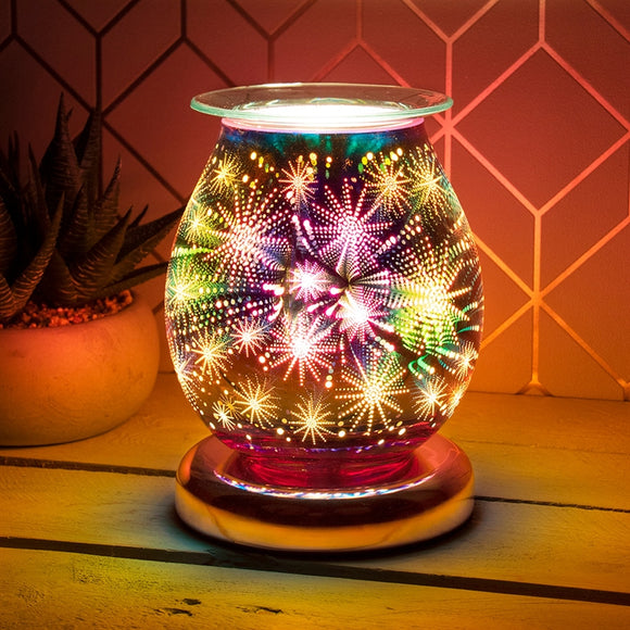 Touch Sensitive Aroma Lamp Starburst (Rosegold Base)