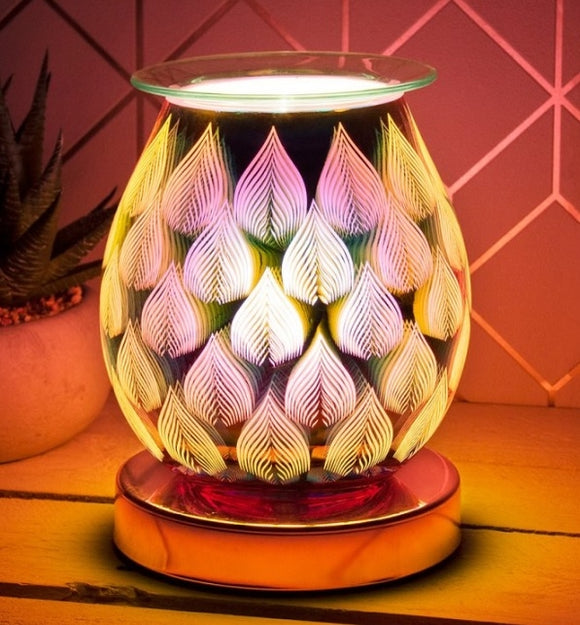 DUE OCTOBER Touch Sensitive Aroma Lamp Flames (Rosegold Base)