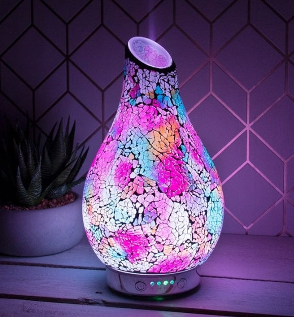 Glass Mosaic Colour Changing Ultrasonic Humidifier Diffuser