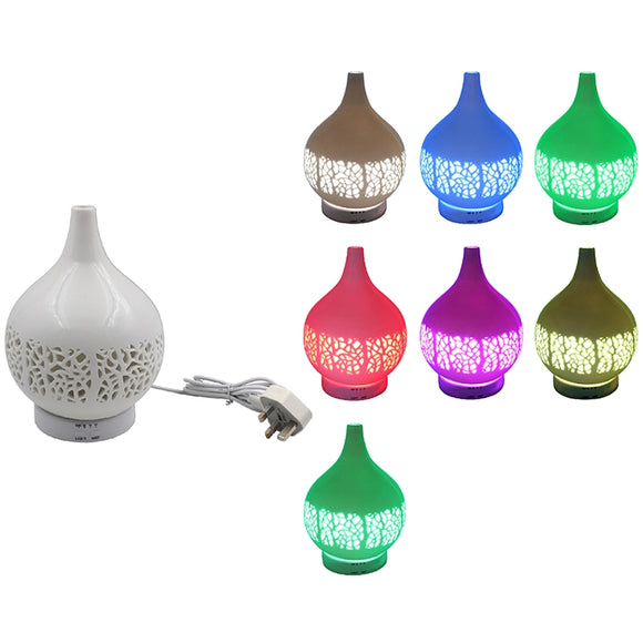 Colour Changing Ceramic Aromatherapy Humidifier with Remote Control