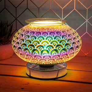 Touch Sensitive Wide Glass Aroma Lamp - Orbs