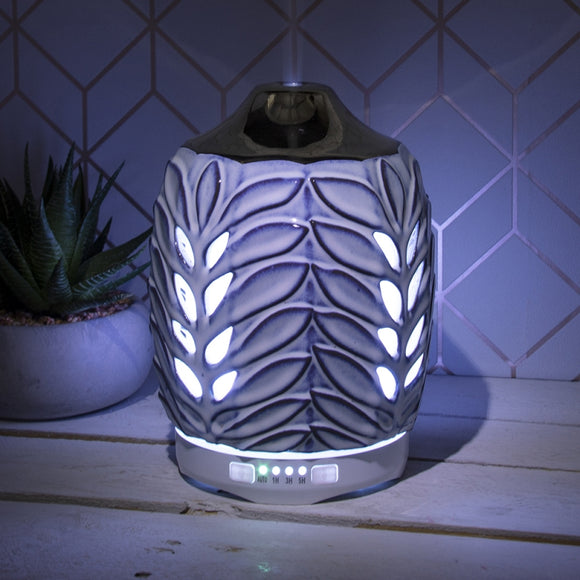 Colour Changing Ceramic Aromatherapy Humidifier - Blue