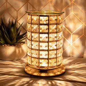 Crystal Touch Sensitive Aroma Lamp Gold