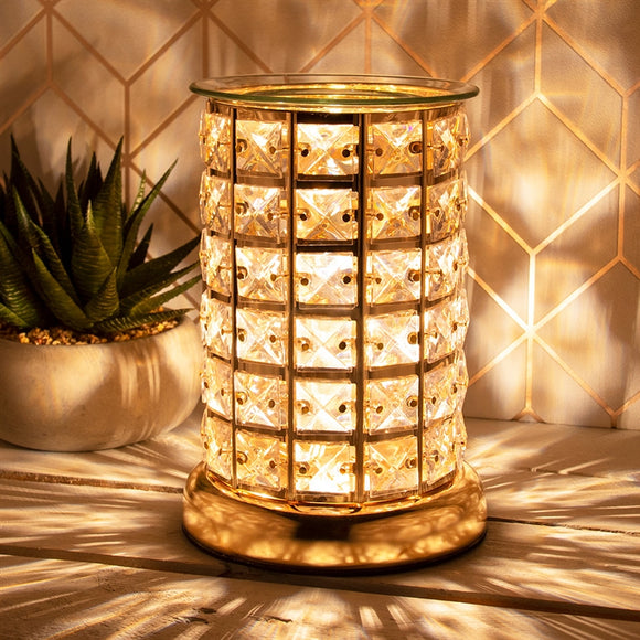 Crystal Touch Sensitive Gold Aroma Lamp