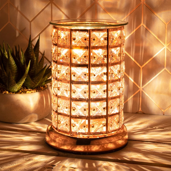 Crystal Touch Sensitive Rose Gold Aroma Lamp