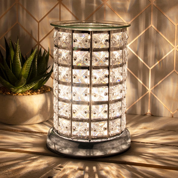 Crystal Touch Sensitive Silver Aroma Lamp