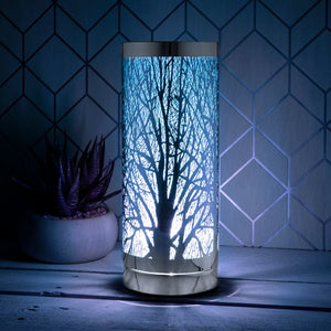 Blue And Silver Touch Sensitive Aroma Lamp 26cm