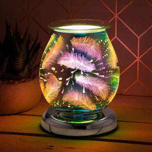 Touch Sensitive Round Aroma Lamp - Feather