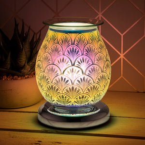 Touch Sensitive Round Aroma Lamp - Fan